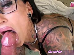 German biggest billibongs tattoo mommy turned on hotel mate up to cum on a-hole