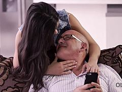 OLD4K. Rough sex for hair-raising latina lady